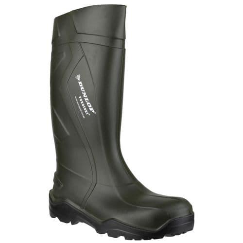 Dunlop Purofort+ D760933 Plain Rubber Wellingtons Green